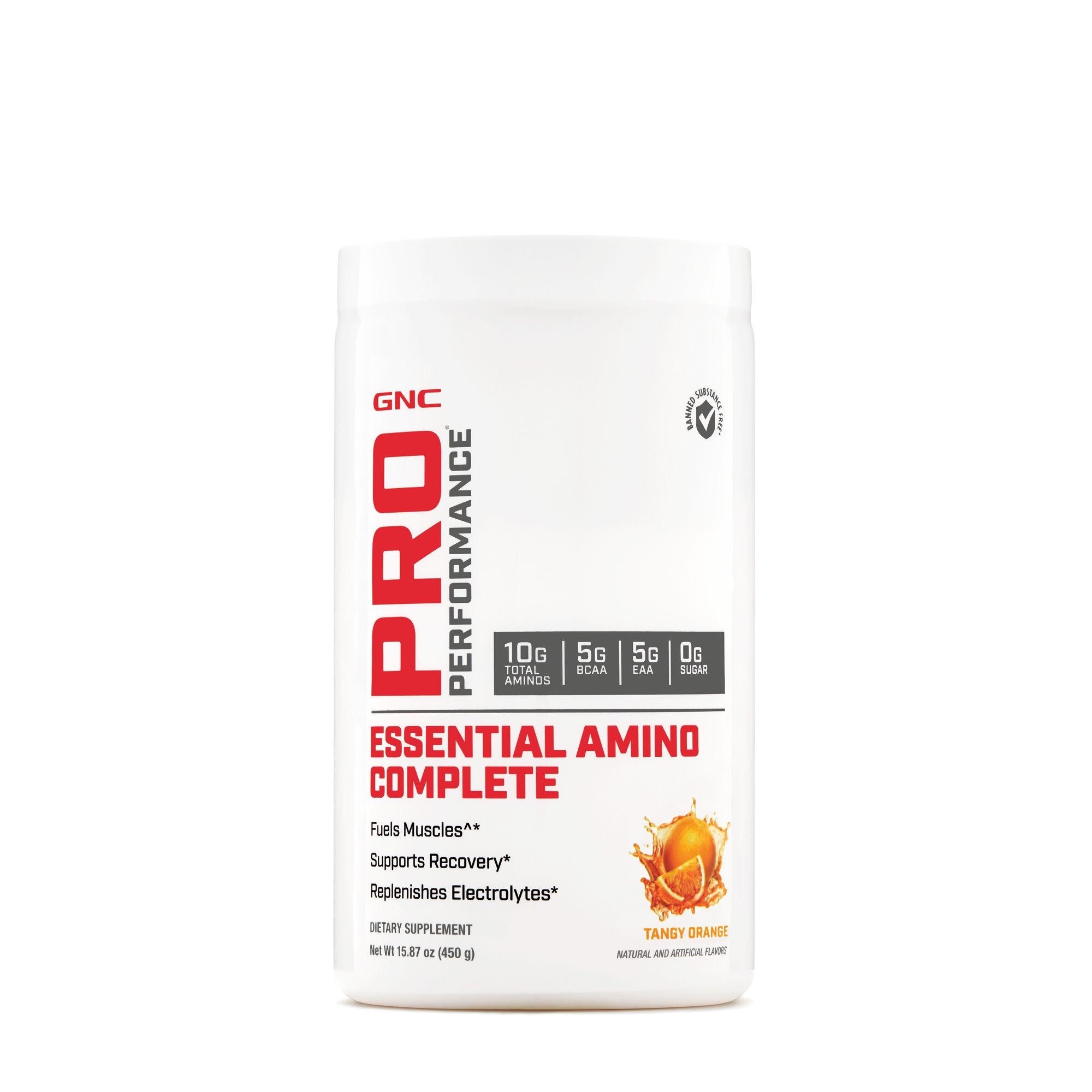 GNC Pro Performance Essential Amino Complete, cu Aroma de Tangy Orange, 450 g