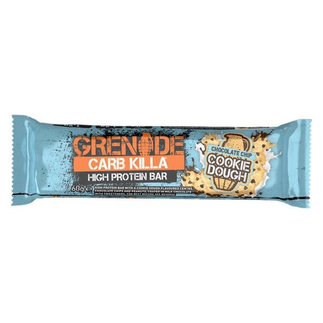 Grenade® Carb Killa® Protein Bar, Baton Proteic, cu Aroma de Prajitura cu Bucati de Ciocolata, 60g