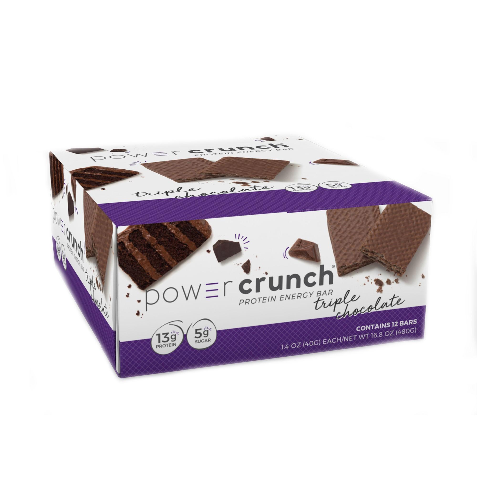 Power Crunch® Protein Energy Bar, Napolitana Proteica, cu Aroma de Ciocolata Tripla, 40 g