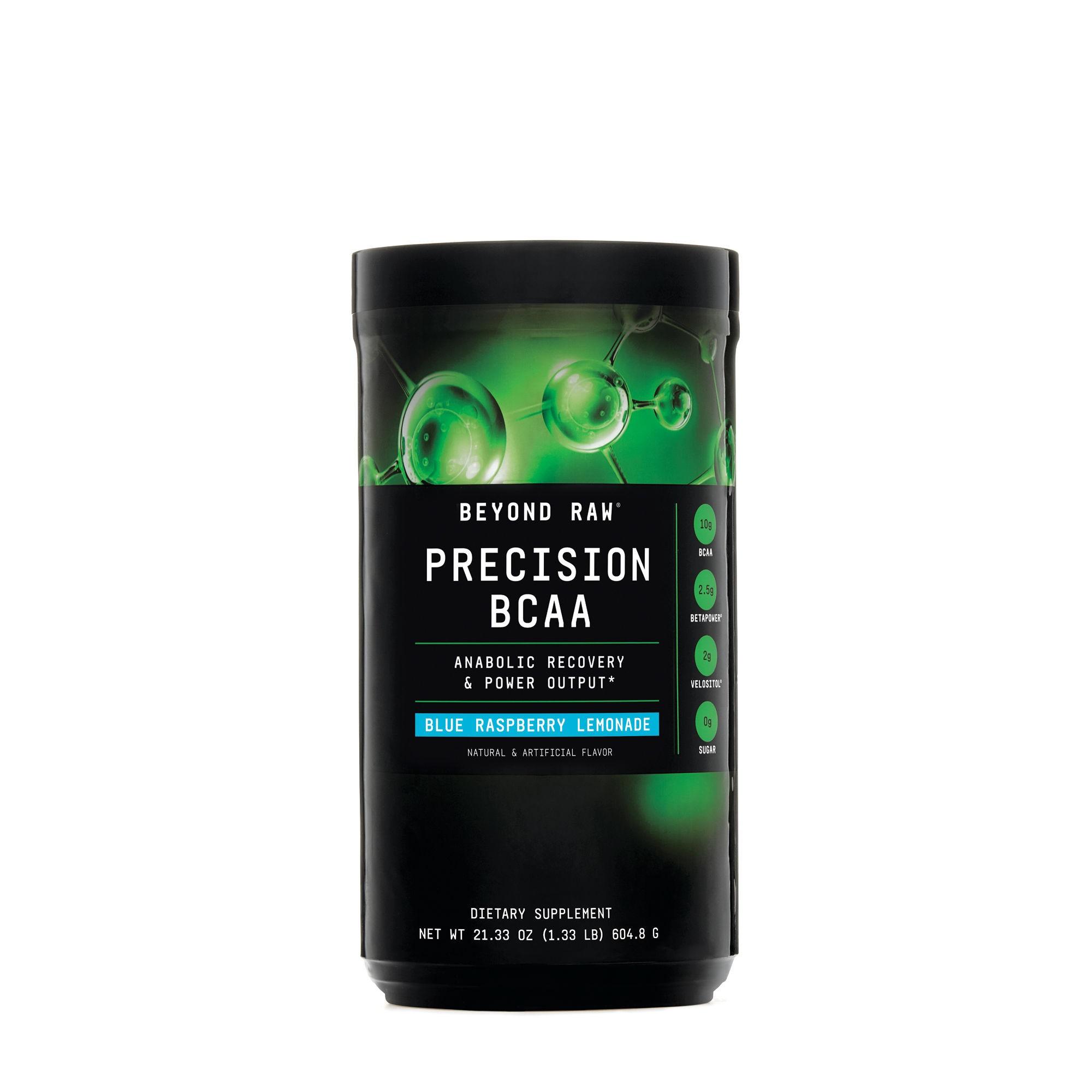 GNC Beyond Raw® Precision BCAA, Aminoacizi cu Aroma de Limonada de Zmeura Albastra, 615 g