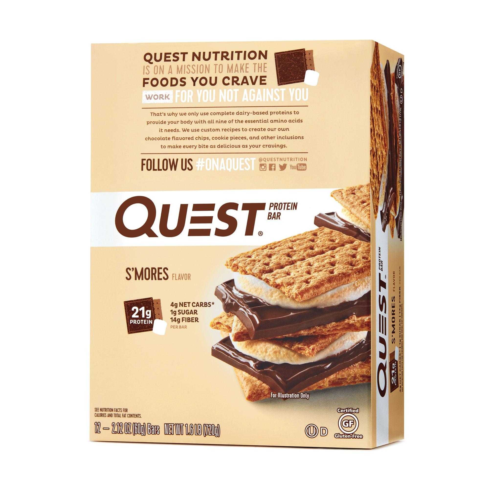 Quest® Protein Bar, Baton Proteic, cu Aroma de Bezele cu Ciocolata, 60g
