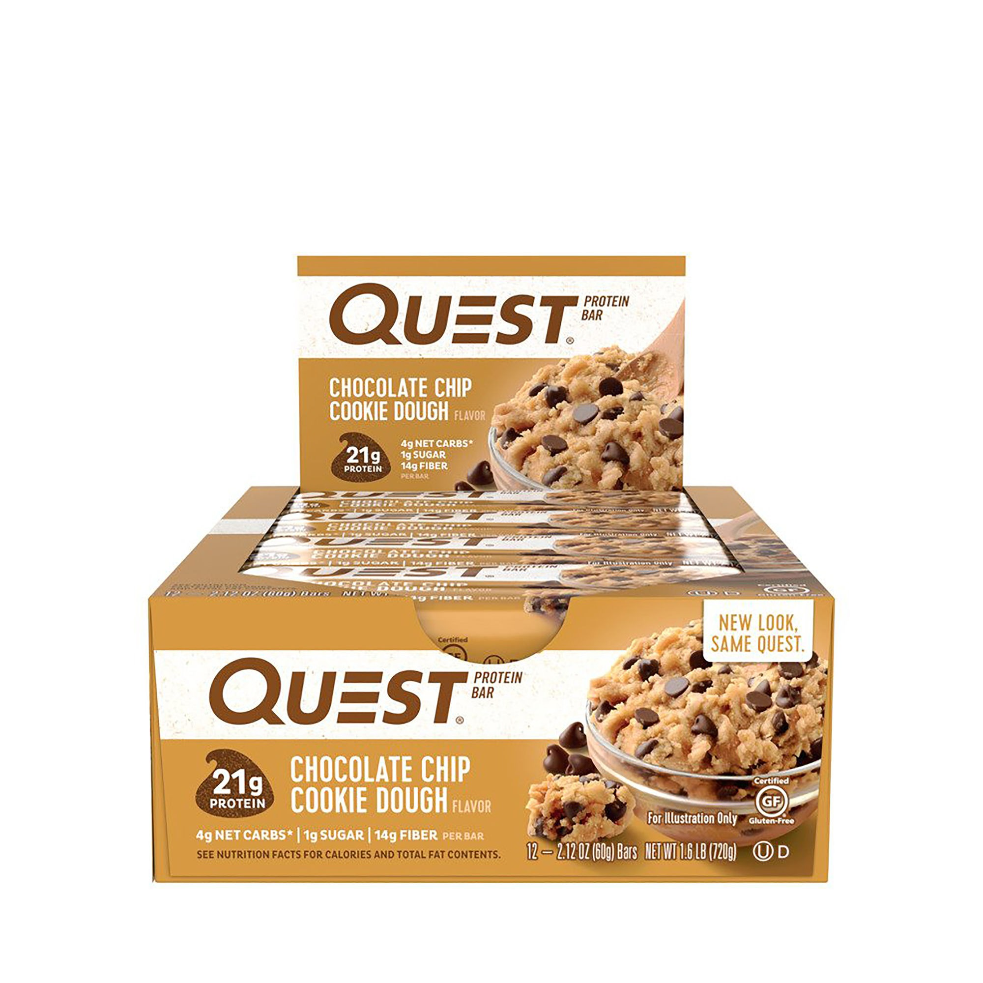 Quest® Protein Bar, Baton Proteic, cu Aroma de Fulgi de Ciocolata, 60g