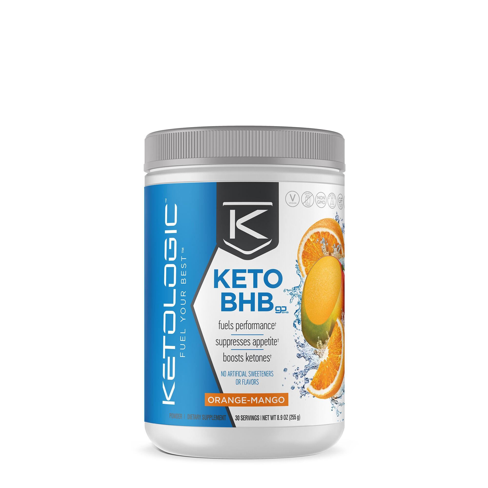 KetoLogic® BHB, Formula Pentru Cresterea Performantei, cu Aroma de Mango si Portocala, 255 g