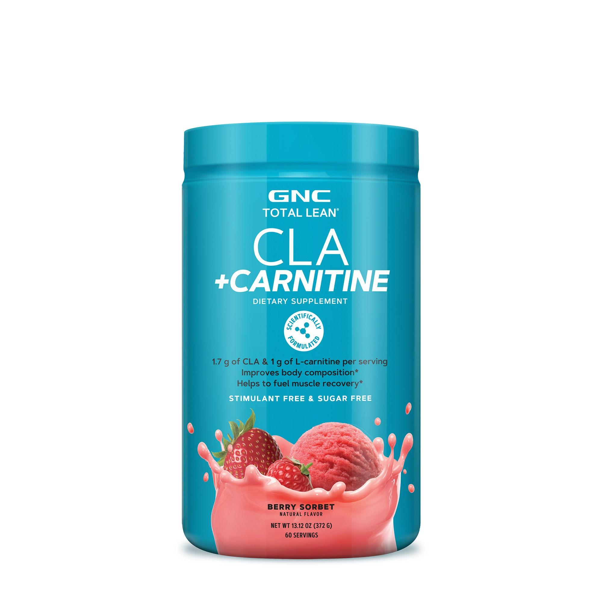 Total Lean® CLA + Carnitine, Acidul linoleic conjugat si Carnitina, cu Aroma de Serbet de Fructe de Padure, 372 g