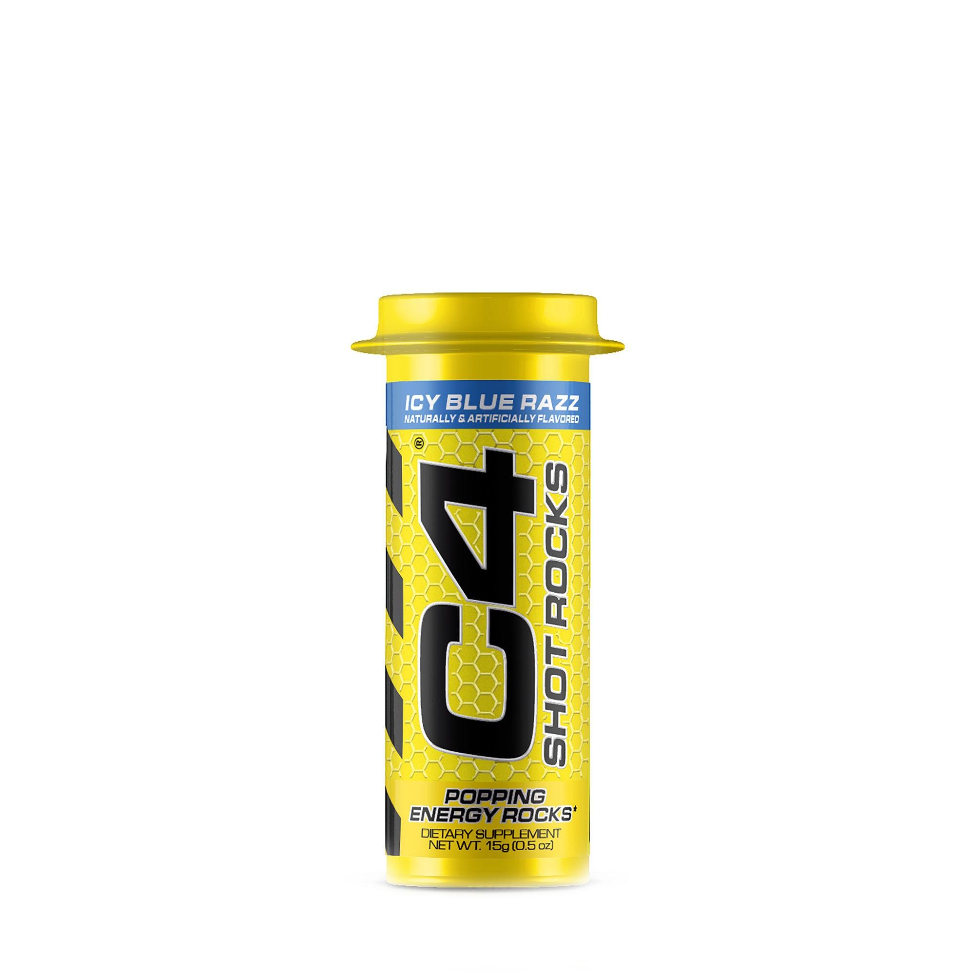 Cellucor® C4® Shot Rocks, Formula Pre-Workout, Cu Aroma de Ice Blue Razz, 15 g