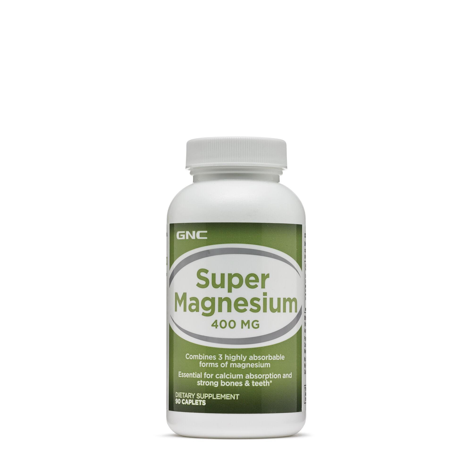 GNC Super Magneziu 400 mg, 90 Tablete