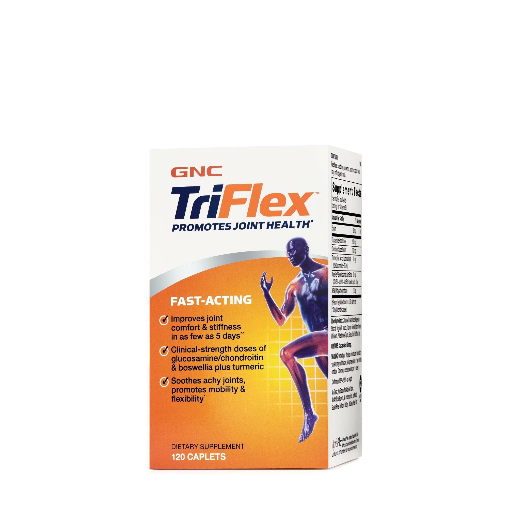 GNC TriFlex™ Fast-Acting, Formula Pentru Sanatatea Articulatiilor, 120 tb