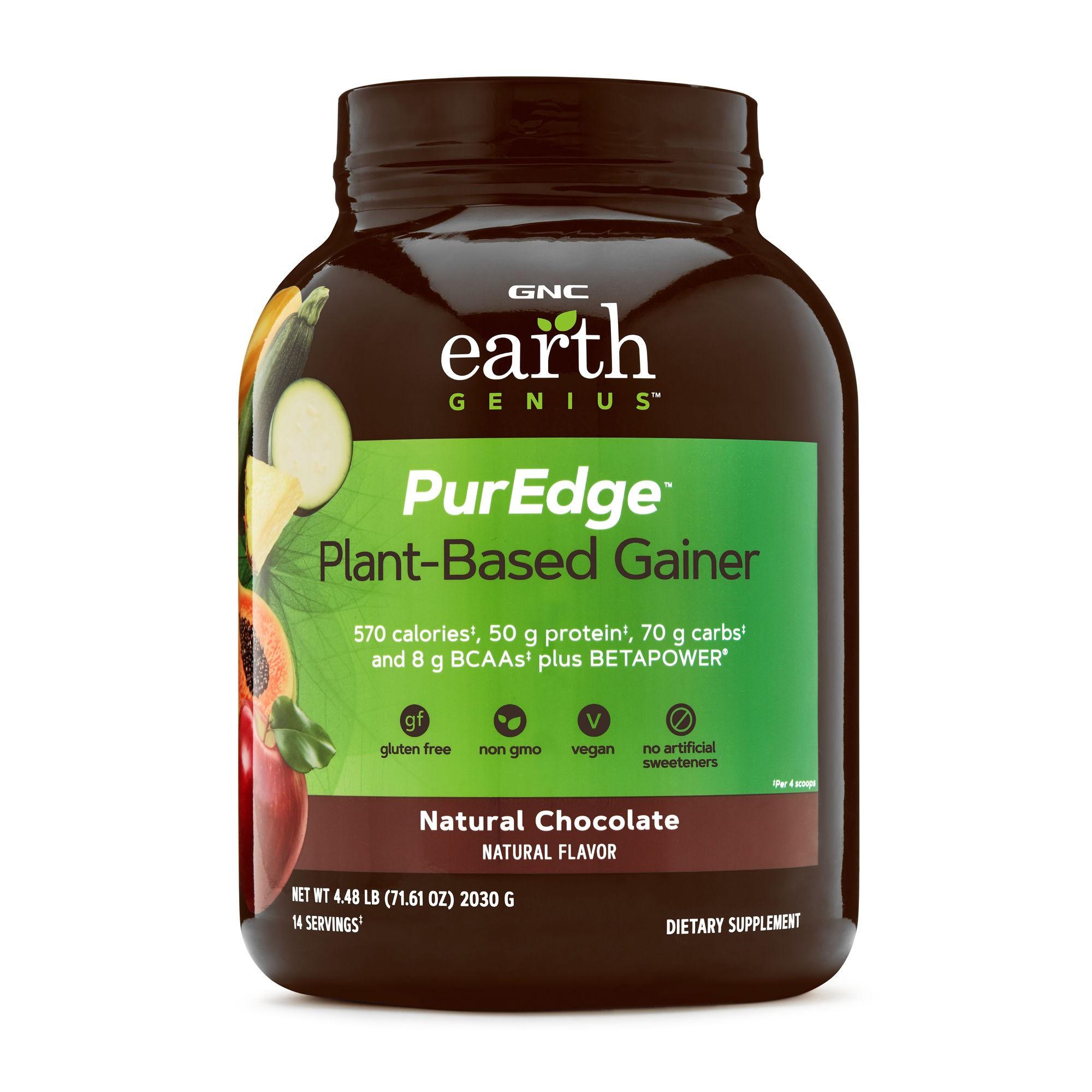 GNC Earth Genius™ PurEdge™ Plant-Based Gainer, Proteina Vegana, cu Aroma de Ciocolata Naturala, 2030 g
