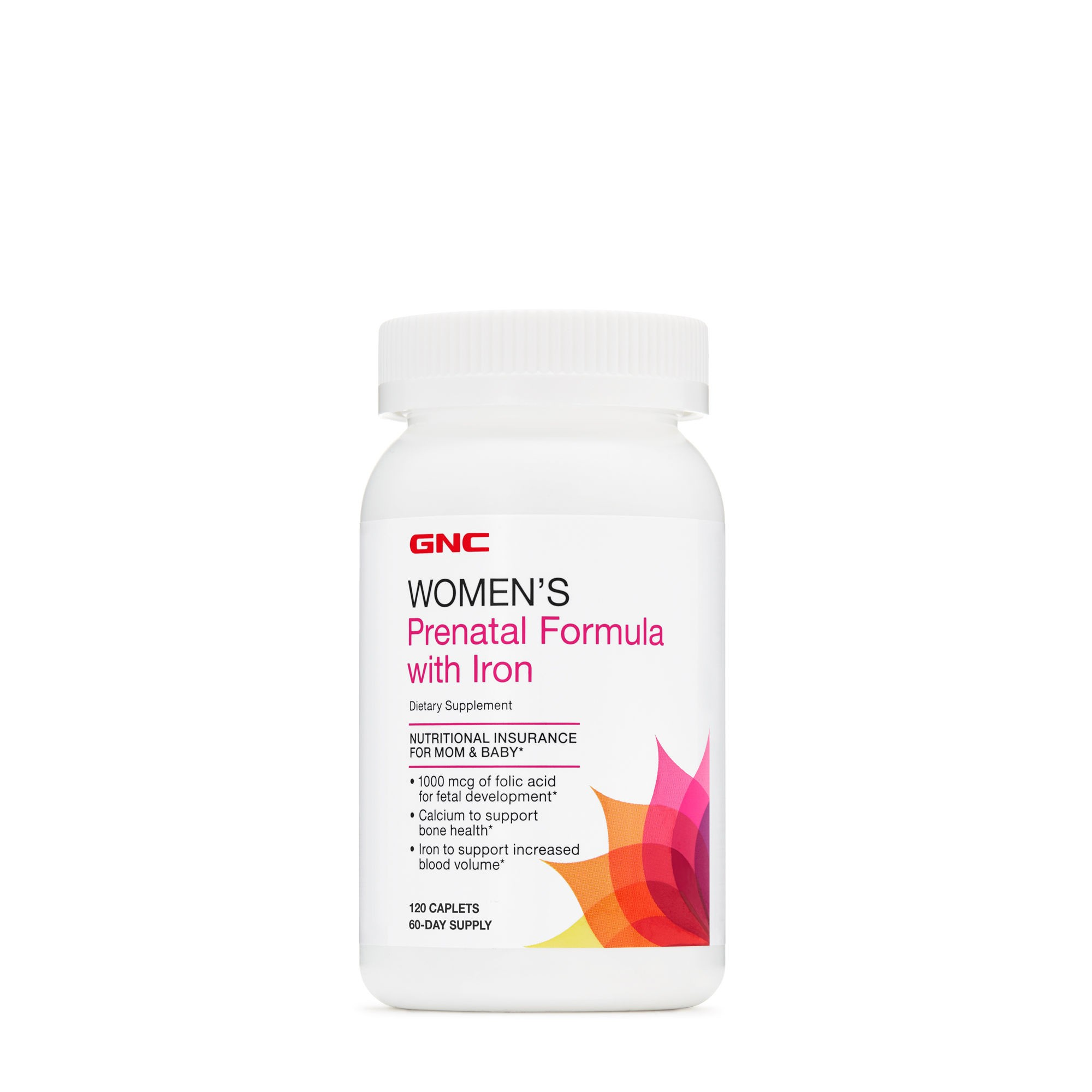 GNC Women's Prenatal Formula with Iron, Formula Prenatala cu Fier, 120 tb