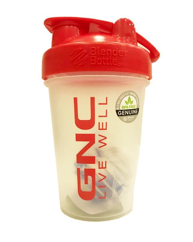 GNC Mini Blender Bottle®, Shaker Rosu, 600 ml