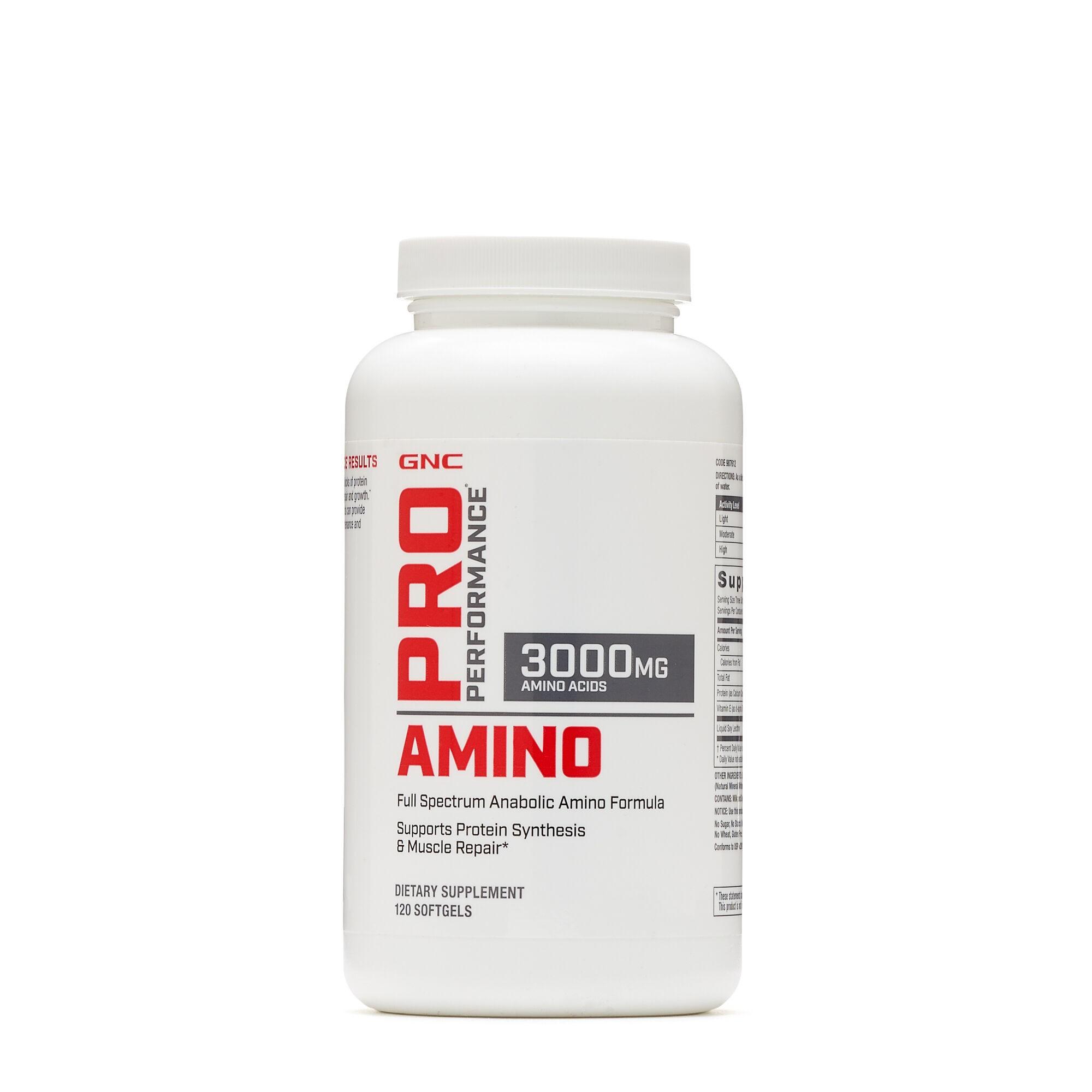 GNC Pro Performance® Amino 3000, Aminoacizi, 120 cps