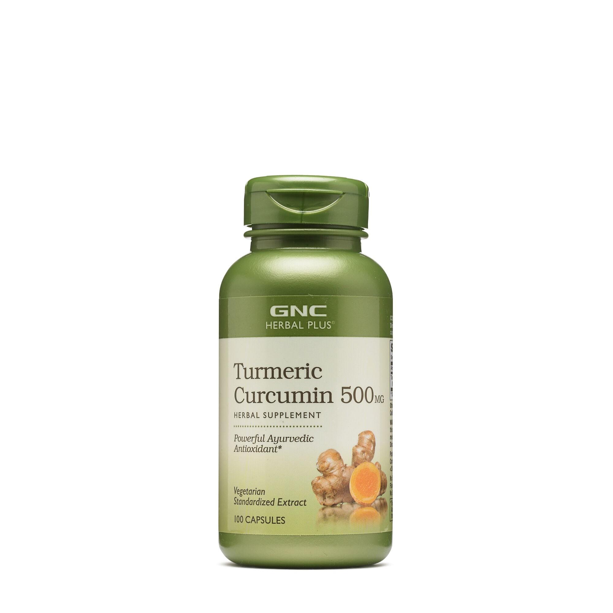GNC Herbal Plus® Turmeric Curcumin 500 mg, Turmeric Curcumina,100 cps