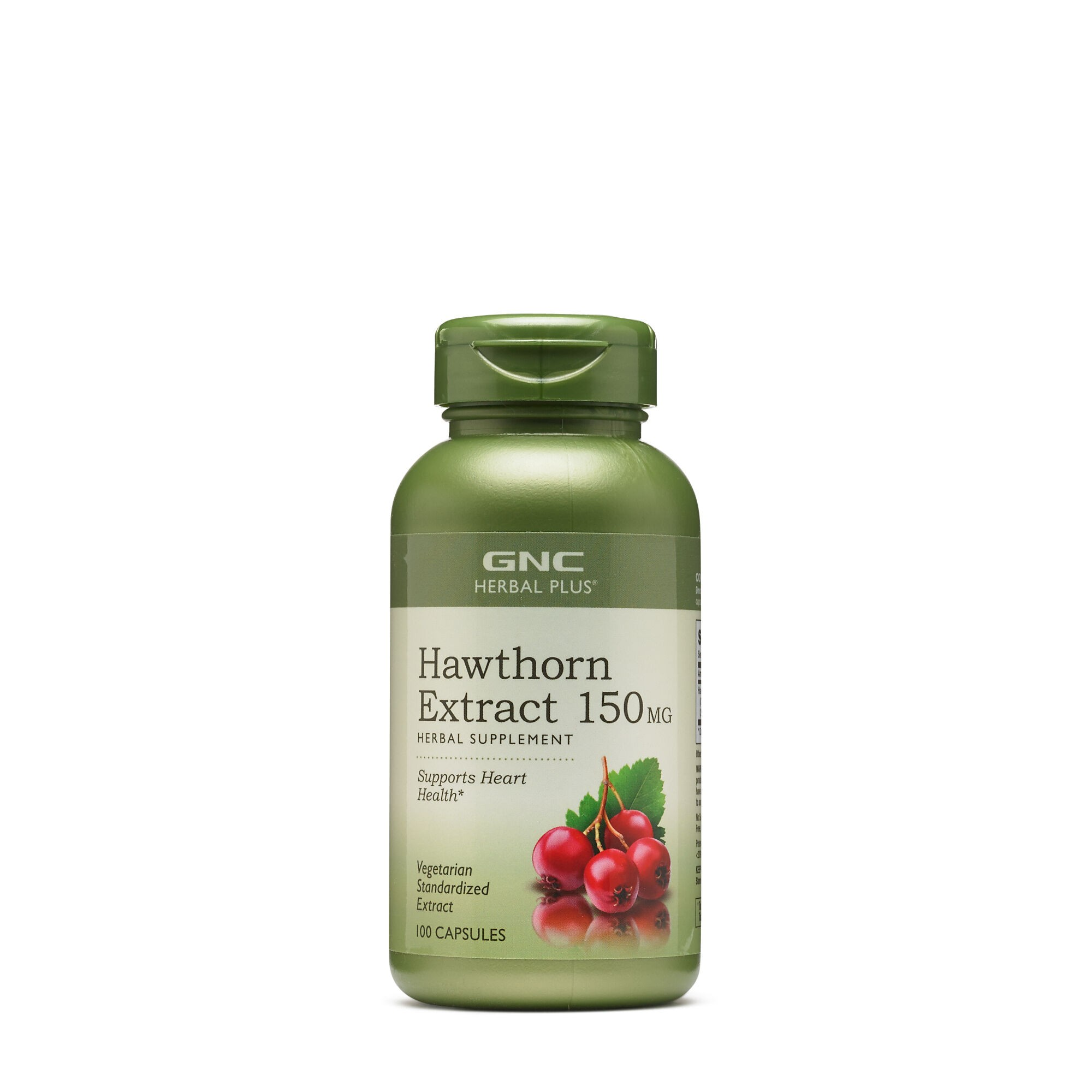 GNC Herbal Plus® Hawthorn 150mg, Extract de Paducel, 100 cps
