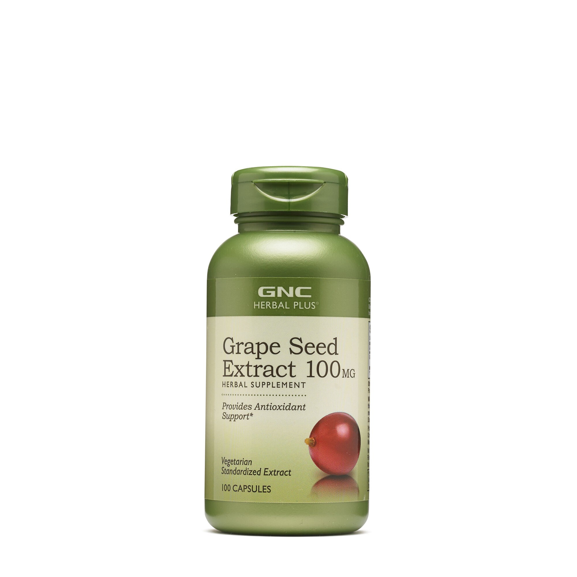 GNC Herbal Plus® Grape Seed 100 mg, Extract din Seminte de Struguri, 100 cps