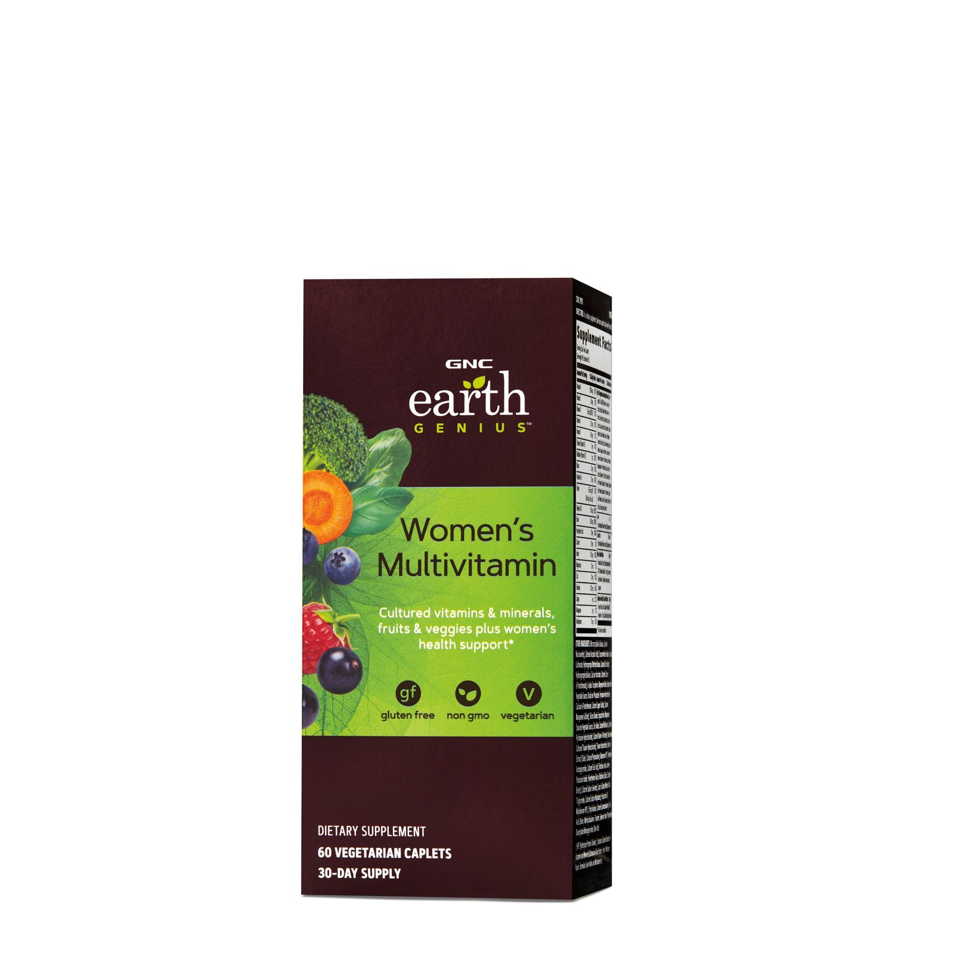 GNC Earth Genius™ Women's Multivitamin, Multivitamine Pentru Femei, 60 tb