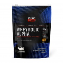 GNC AMP Wheybolic™ Alpha, Proteina din Zer, cu Aroma de Vanilie, 537.3  g