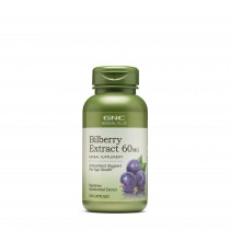 GNC Herbal Plus® Bilberry Extract 60 mg, Extract Standardizat din Afine, 100 cps