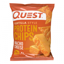 Quest® Tortilla Style Protein Chips, Chipsuri Tortilla, cu Aroma de Branza Nacho, 32 g