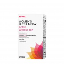 GNC Women's Ultra Mega® Active without Iron, Complex de multivitamine Pentru Femei Fara Fier, 180 tb