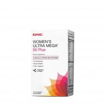 GNC Women's Ultra Mega® 50 Plus, Complex de Multivitamine pentru Femei 50 Plus, 60 tb
