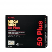 GNC Mega Men® 50 Plus Vitapak® Program, Complex de Multivitamine Pentru Barbati 50 Plus, 30 Pachetele