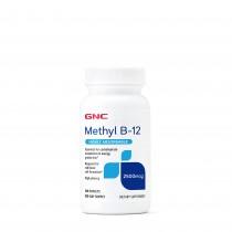 GNC Methyl B-12 2500mcg, Vitamina B-12 Metilcobalamina, 100 tb