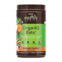 GNC Earth Genius™ OrganIQ Eats™, Pudra Proteica Vegetala, cu Aroma de Ciocolata si Alune, 850 g