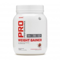 GNC Pro Performance® Weight Gainer, Formula Proteica Pentru Crestere In Greutate, cu Aroma de Capsuni, 1098 g