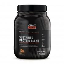 GNC AMP Sustained Protein Blend Amestec Proteic cu Aroma de Pufuleti cu Unt de Arahide, 924 g
