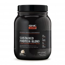 GNC AMP Sustained Protein Blend, Proteina din Zer, cu Aroma de Milkshake de Vanilie, 924 g