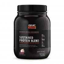 GNC AMP Sustained Protein Blend, Amestec Proteic cu Aroma de Milkshake de Capsuni, 896 g