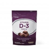 GNC Vitamina D-3 1000 IU Caramele cu gust natural de ciocolata