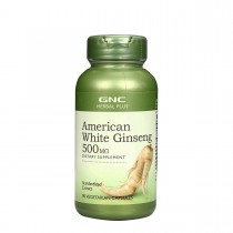 GNC Herbal Plus® American White Ginseng 500 mg, Ginseng Alb American, 90 cps