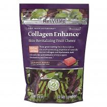 ResVitále™ Collagen Enhance™ Skin Revitalizing Chews, Colagen Caramele, cu Aroma de Fructe Burgundy