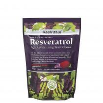 ResVitále™ Resveratrol Age-Revitalizing Fruit Chews, Resveratrol Caramele, cu Aroma de Fructe Bordeaux