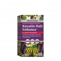 Resvitale™ Keratin Hair Enhance™, Keratina cu Biotina si Resveratrol, 60 cps