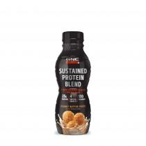 GNC AMP Sustained Protein Blend Shake Proteic RTD  cu Aroma de Pufuleti cu Unt de Arahide, 414 ml