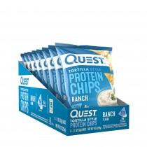 Quest® Tortilla Style Protein Chips, Chipsuri Tortilla, cu Aroma de Ranch, 32 g