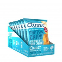 Quest Nutrition Protein Chips, Chipsuri Proteice, cu Aroma de Branza Cheddar si Smantana, 32 g