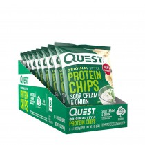 Quest Nutrition Protein Chips, Chipsuri Proteice, cu Aroma de Smantana si Ceapa, 32 g
