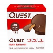 Quest® Peanut Butter Cups, Baton Proteic, cu Aroma de Unt de Arahide, 42 g