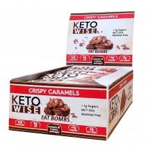 Keto Wise Fat Bombs, Prajitura cu Aroma de Caramel, 32 G
