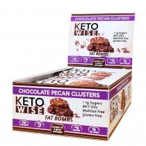 Keto Wise Fat Bombs, Bomboane Invelite in Ciocolata  cu Aroma de Nuci Pecane, 32 g