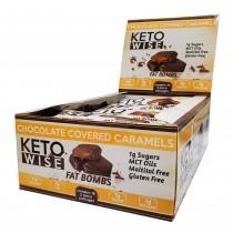 Keto Wise™ Fat Bombs, Bomboane Invelite in Ciocolata cu Aroma de Caramel, 32 g