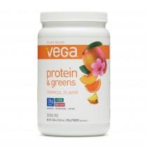 Vega™ Protein and Greens, Proteina si Verdeturi, cu Aroma de Fructe Tropicale, 590 g
