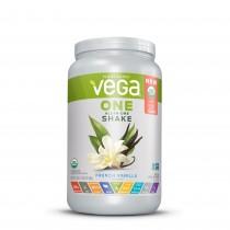Vega® One All-In-One Nutritional Shake, Proteina Vegetala, cu Aroma de Vanilie, 689 g