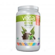 Vega® One Organic All-In-One Shake Proteina Vegetala cu Aroma de Ciocolata si Menta, 678 g