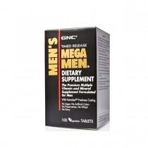 GNC Men's Mega Men, Complex de Multivitamine Pentru Barbati, 100 tb