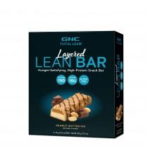 GNC Total Lean® Layered Lean Bar, Baton Proteic, cu Aroma de Placinta de Unt de Arahide, 44g