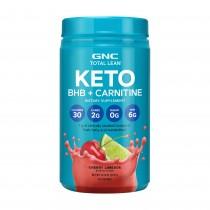 GNC Total Lean® KETO BHB + Carnitine, BHB si Carnitina, cu Aroma de Limonada de Cirese, 375 g